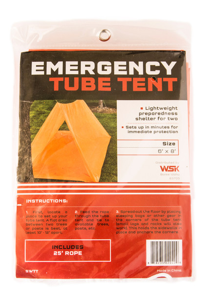2-Person Tube Tent with Cord (Qty 2)