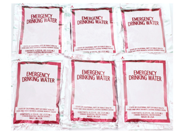 Water Pouch  (1 Case) 96 pouches of water