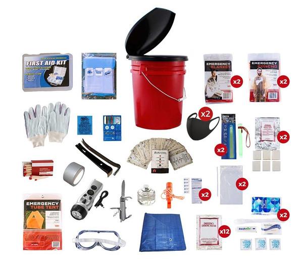 2 Person Deluxe Bucket - Emergency Survival Kit