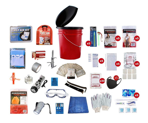 5 Person Deluxe- Emergency Survival Kit