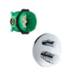Hansgrohe Axor 2 Outlet Uno Zero Handle Bath & Shower Finish Set Chrome Plated INC iBox 38405000