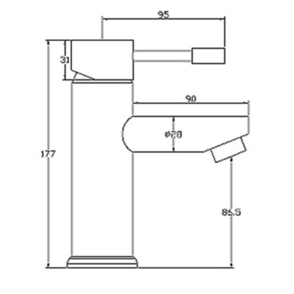 Mayfair Series F Mono Basin Mixer Tap with Pop-Up Waste Chrome Plated SFL009