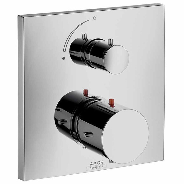 Hansgrohe Axor Starck X Thermostatic 1 Outlet Shower Mixer Finish Set with Shut-Off Chrome Plated INC iBox  10706000 | 01800180