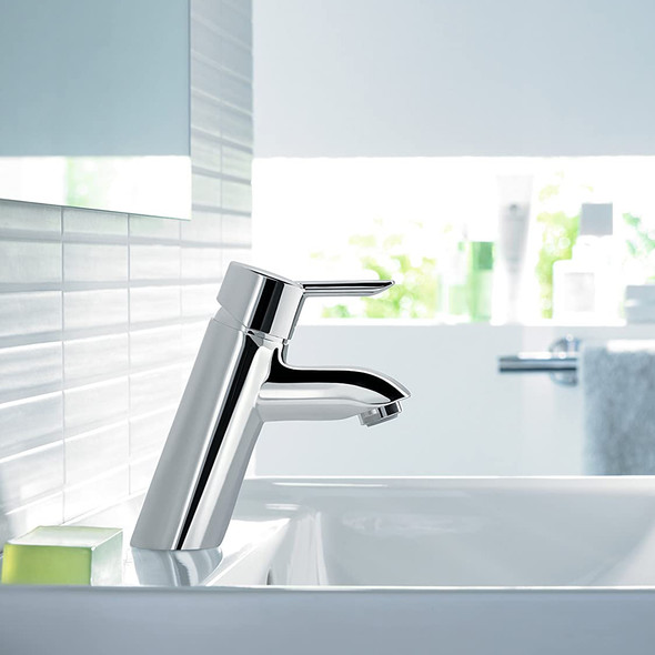 """Hansgrohe Focus S Single Lever Monobloc Basin Mixer with Pop Up Waste 1/2""""  Chrome Plated   31701000"""