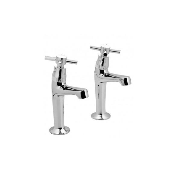 Vado Chrome Plated Vecta High Neck Sink Pillar Taps VEC-156/FR-C/P