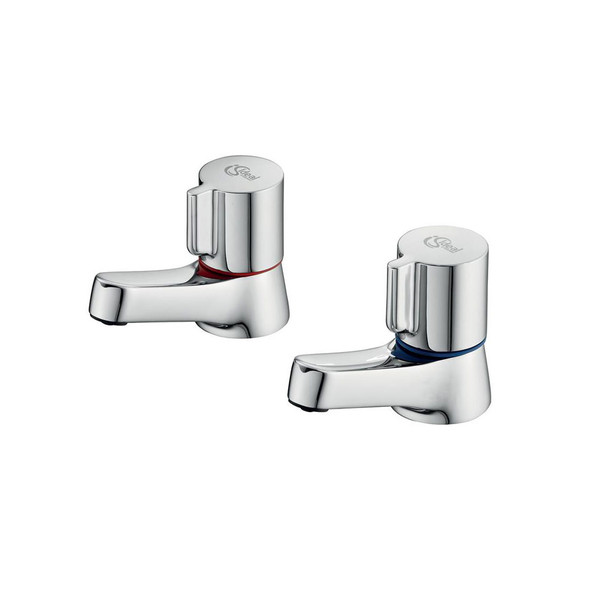 """Ideal Standard Chrome Plated Alto Basin Taps with New Handles 1/2""""      B0349AA"""
