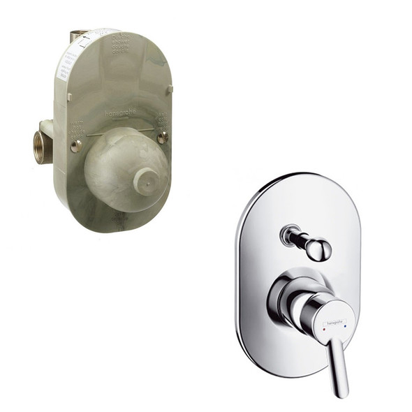 Hansgrohe Focus S Basic Set for Single Lever 2 Outlet Bath Shower Mixer for Concealed Installation  INC Basic Valve 31746000 | 31741180
