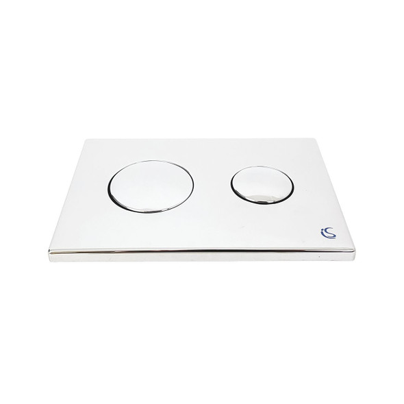 Ideal Standard Contemporary Dual Flushplate with Ideal Standard Logo Chrome Plated    E4437AA