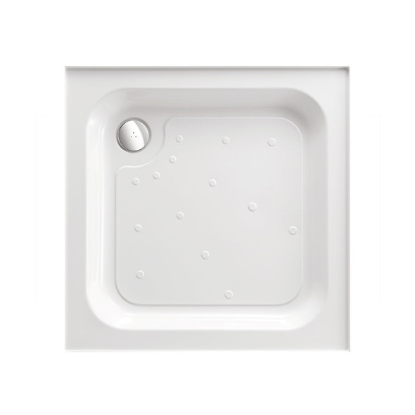 Ultracast White Standard Tray 4 Upstands 800mm Square  A80140