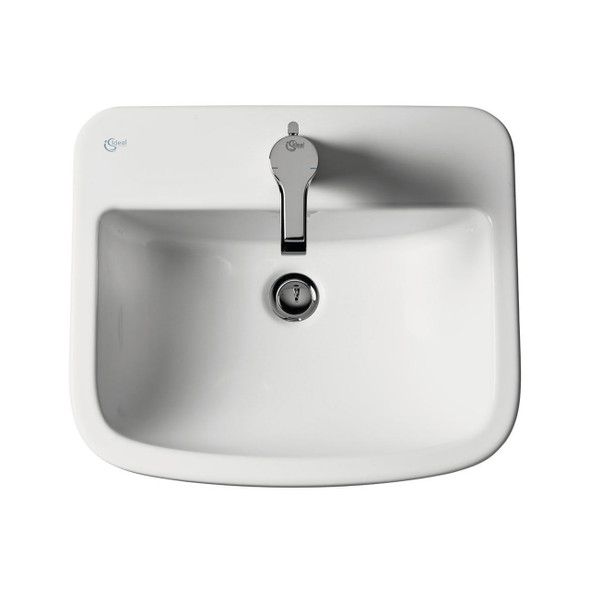 Ideal Standard Tempo Countertop Fully Inset Basin 500 x 430mm 1TH White   T059201