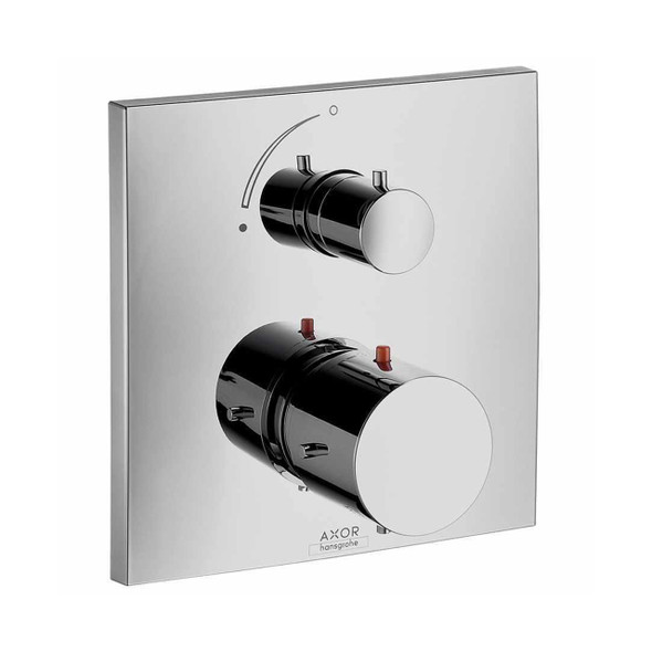 Hansgrohe Axor Starck X Thermostatic Shower Mixer Finish Set  with Shut-Off Chrome Plated   10706000