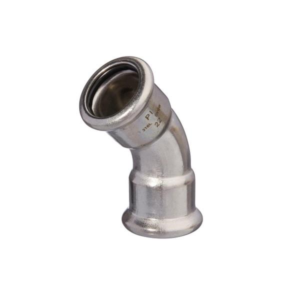 M-PRESS Stainless Steel Gas Press 28mm x 28mm F x F Bend 45° Deg 172302828