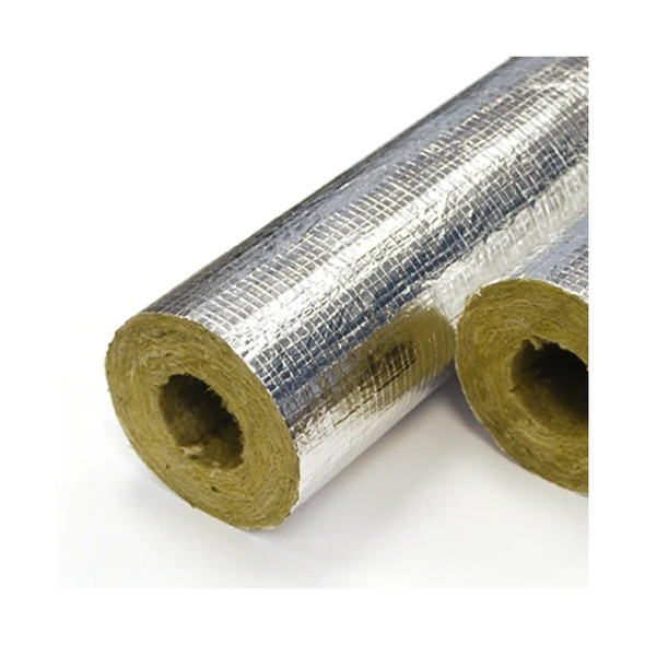 Rockwool Foil Backed Rigid Section Pipe Insulation with 20mm Wall - 1Mtr Lengths x 42mm Bore      PBR4220