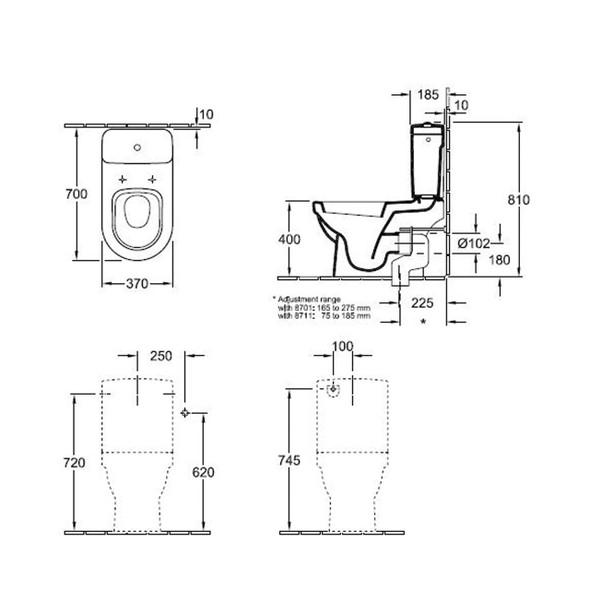 Villeroy & Boch Sunberry Close Coupled White WC Suite 56321001 | 9M55S101 | 77231101