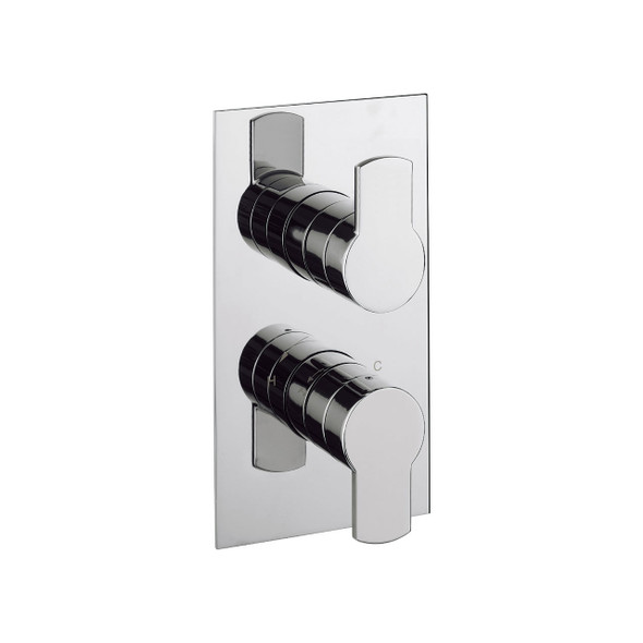 Crosswater Wisp Concealed Thermostatic 2-Handle Shower Valve Chrome Plated    WP1000RC