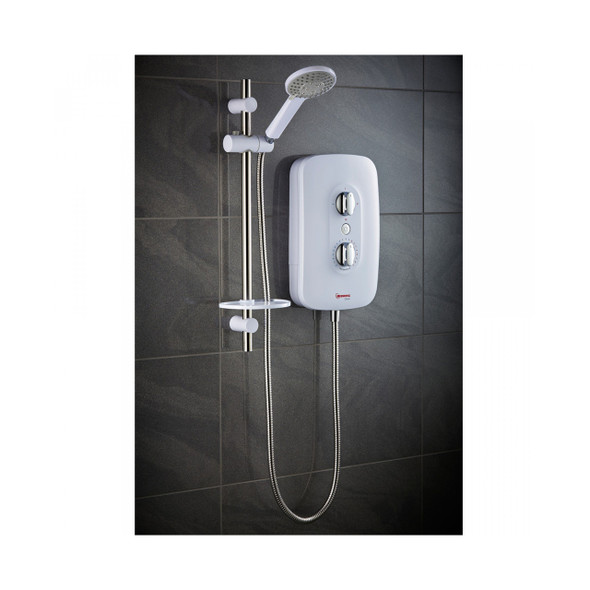 Redring RGS9 Glow 9.5KW Electric Shower White   53535101