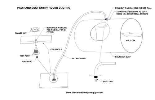 90 Degree Hard Duct Transfer Tube