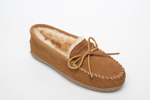 Sheepskin hardsole moc for Women by Minnetonka.