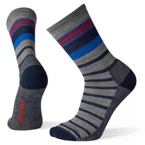 Smartwool Hike Light Stripe Crew - Gray