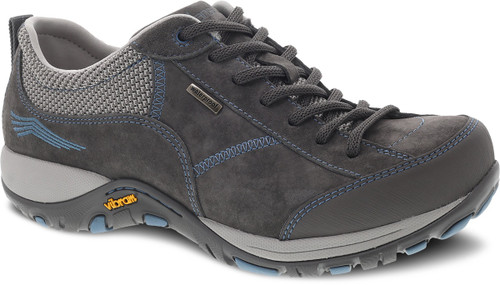 Grey/Blue suede lace with waterproof leathers by Dansko.