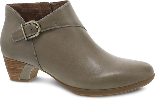 Stone ankle boot with side zipper by Dansko.