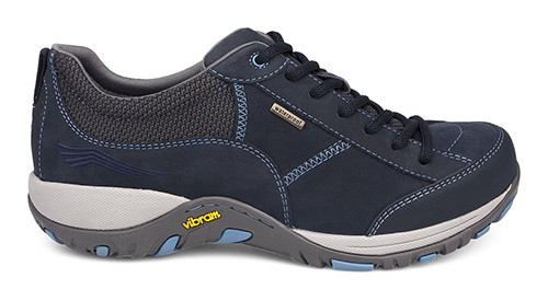 Navy suede lace with waterproof leathers by Dansko.