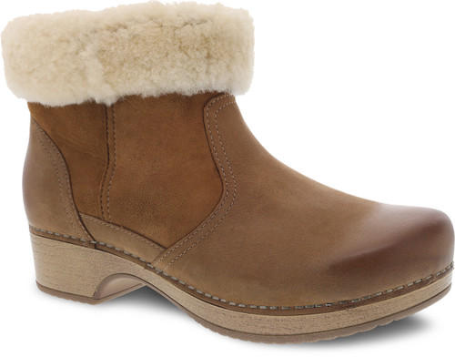 Honey shearling lined ankle boot by Dansko.