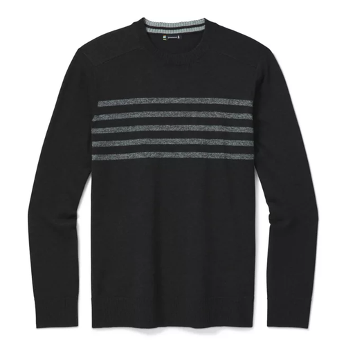Charcoal striped crew cut shirt by Smartwool.