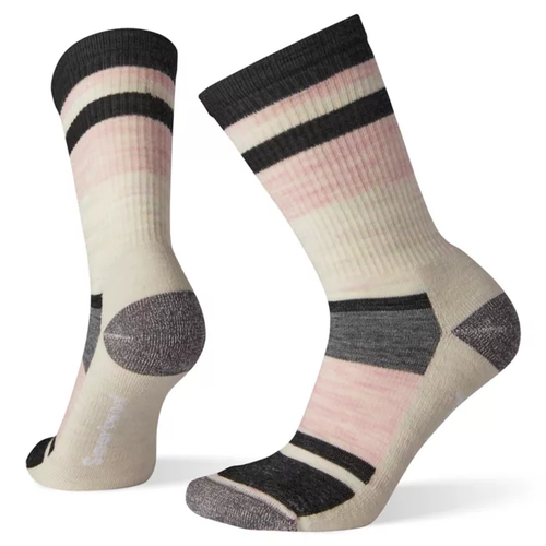 Charcoal Hike Light Striped sock by Smartwool.