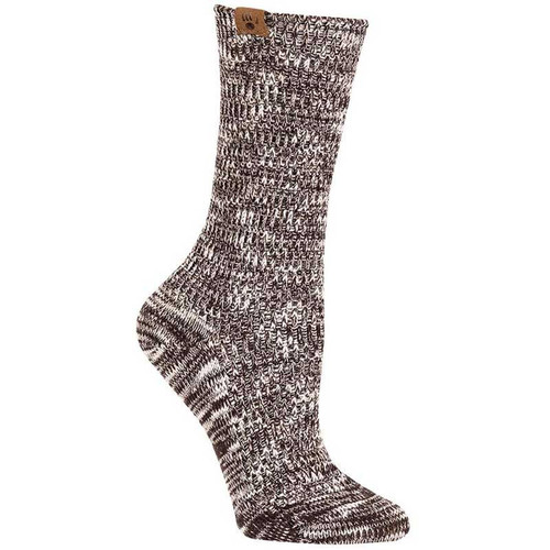Bearpaw Piazza Slub Pointelle Crew - Brown