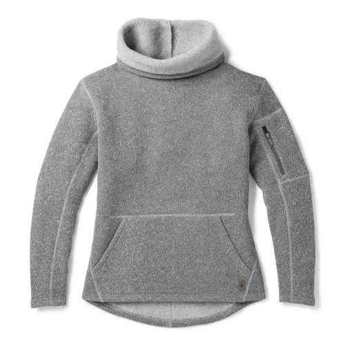 Smartwool Women's Hudson Trail Pull Over Fleece Sweater - Light Grey