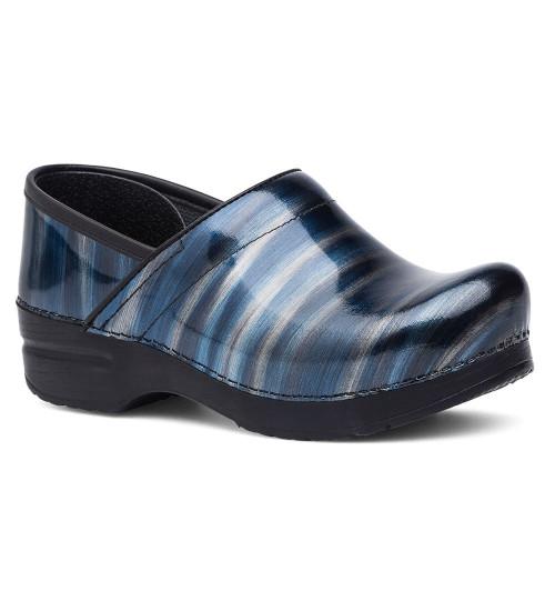 Dansko Women's Professional - Silver/Blue Stripe