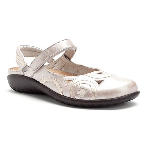 Quartz mary jane sling back with removable cork footbed by Naot.