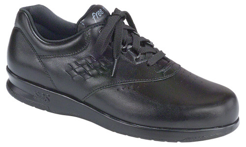 Black casual lace up with removable footbed by SAS.