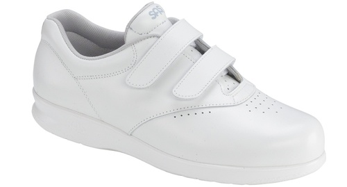 White velcro casual walking style with removable footbed by Sas.
