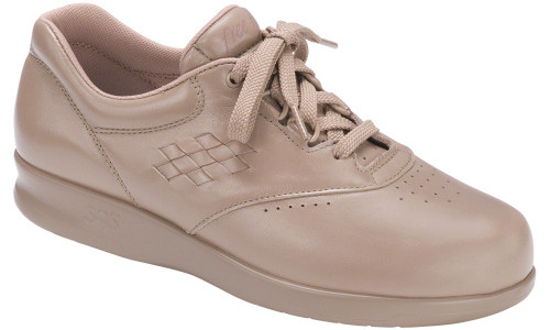 Mocha casual lace up with removable footbed by SAS.