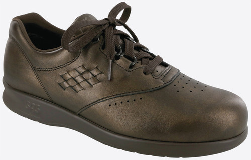Bronze casual lace up with removable footbed by SAS.