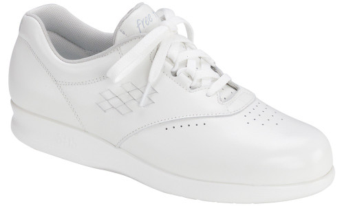 White casual lace up with removable footbed by SAS.