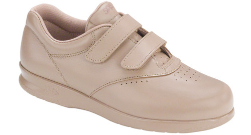 Mocha velcro casual walking style with removable footbed by Sas.