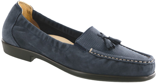 Jeans colored classic tassel loafer with removable footbed by Sas.