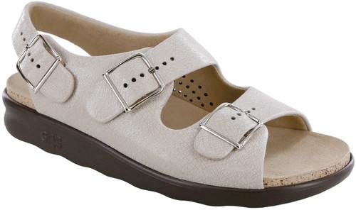 Web Linen super soft classic sandal with adjustable straps by Sas.