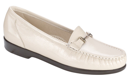 Bone moccasin with removable footbed by Sas.