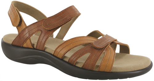 Sepia adjustable sandal by Sas.