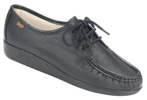 Black classic casual lace up by Sas.