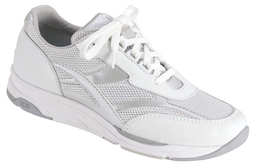 Silver mesh and leather athletic style by Sas.
