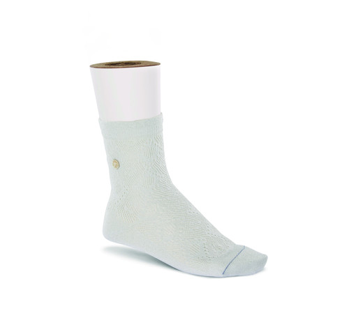 White sock by Birkenstock.