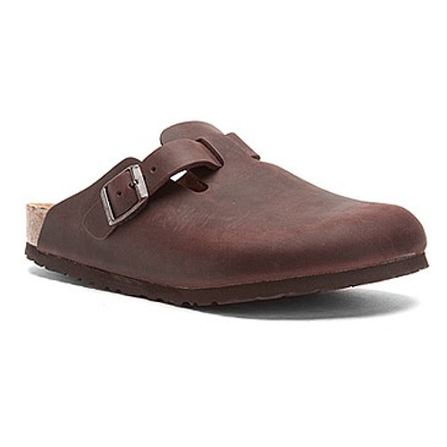 Habana oiled  clog with cork footbed by Birkenstock.