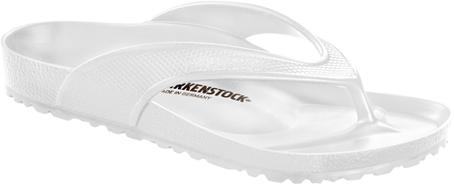 White EVA thong sandal by Birkenstock.