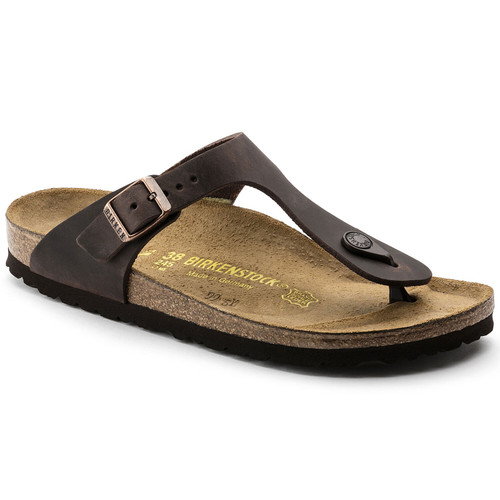 Habana leather thong sandal with cork footbed by Birkenstock.