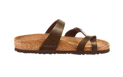 Golden Brown synthetic sandal with cork footbed by Birkenstock.